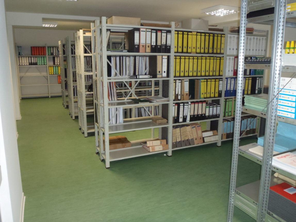 Einbau Archiv- und Büroräume im Dachgeschoss