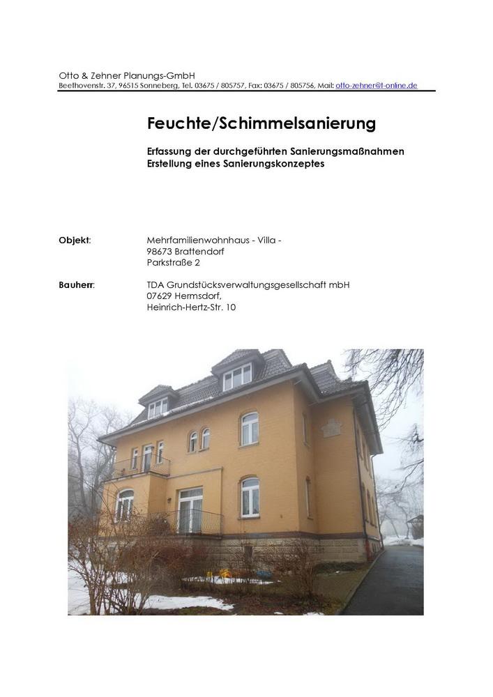 Sanierungskonzept Villa Brattendorf
